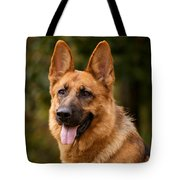 Red German Shepherd Dog Tote Bag