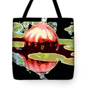 Red Glass Design Tote Bag