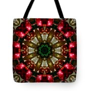 Red Gold Green Kaleidoscope 1 Tote Bag