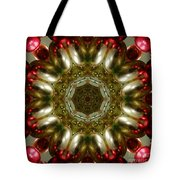 Red Gold Kaleidoscope 1 Tote Bag