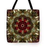 Red Gold Kaleidoscope 2 Tote Bag
