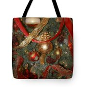 Red Gold Tree No 2 Fashions For Evergreens Event Hotel Roanoke 2009 Tote Bag