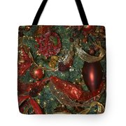 Red Gold Tree No 3 Fashions For Evergreens Event Hotel Roanoke 2009 Tote Bag