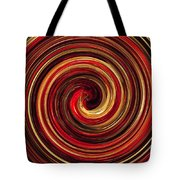 Have A Closer Look. Red-golden Spiral Art Tote Bag