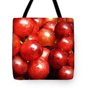 Red Grape Pano Tote Bag