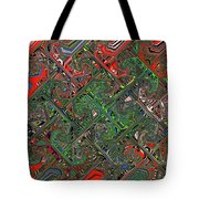 Red Green Blue Compressed Tote Bag