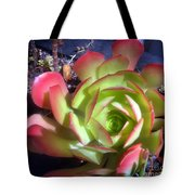 Red Green Succulent Tote Bag