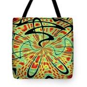 Red Green Yellow And Black Abstract Tote Bag