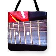 Red Guitar Neck Tote Bag