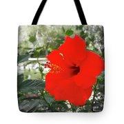 Red Gumamela  Tote Bag