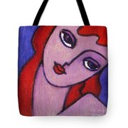 Red Hair Girl Tote Bag