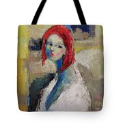 Red Haired Girl Tote Bag
