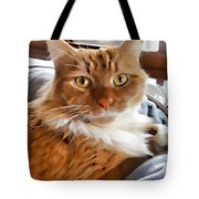 Red-haired Kitten Tote Bag