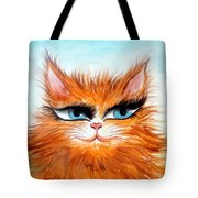 Red-haired Sofia The Cat Tote Bag