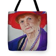 Red-hat Lady Tote Bag