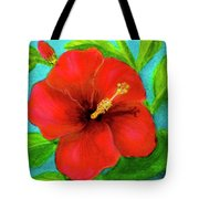 Red Hawaii Hibiscus #238  Tote Bag