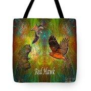Red Hawk Moon Tote Bag