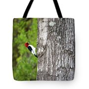 Red Head Bird Tote Bag