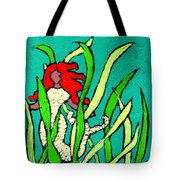 Red Head Mermaid Tote Bag