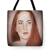 Red Headed Beauty Vdersion II Tote Bag