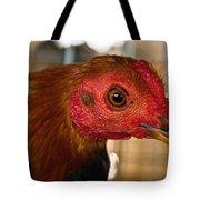 Red Headed Chicken Tote Bag