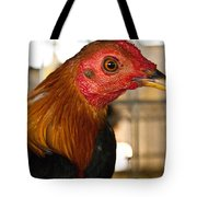 Red Headed Chicken Head Tote Bag