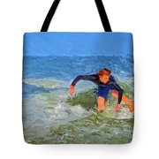 Red Headed Surfer Tote Bag