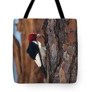 Red Headed Woodpecker Tote Bag