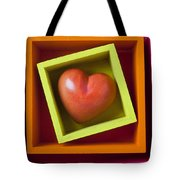 Red Heart In Box Tote Bag