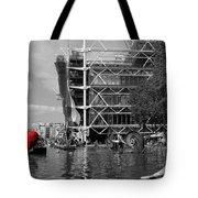 Red Heart In Paris Tote Bag