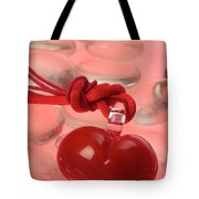 Red Heart Of Love Tote Bag
