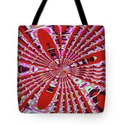 Red Heavy Screen Abstract Tote Bag