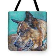 Red Heeler Australian Cattle Dog Tote Bag by Lee Ann Shepard