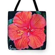 Red Hibiscus Tote Bag