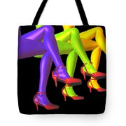 Red High-heeled Shoes Tote Bag