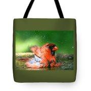 Red Hot Bath Tote Bag