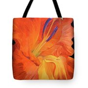 Red-hot Flower Tote Bag