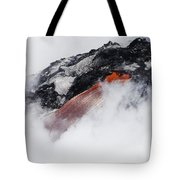 Red Hot Lava And Steam Tote Bag