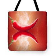 Red Hot Mirchi Tote Bag