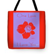 Red Hot Passion Flower Tote Bag