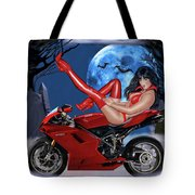 Red Hot Rider Tote Bag