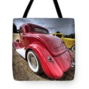 Red Hot Rod - 1930s Ford Coupe Tote Bag