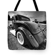 Red Hot Rod In Black And White Tote Bag