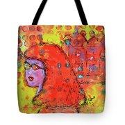 Red Hot Summer Girl Tote Bag