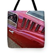Red Hot Vents - Classic Fastback Mustang Tote Bag