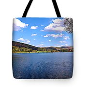 Red House Lake Allegany State Park Expressionistic Effect Tote Bag