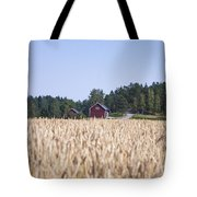 Red House Wheat Field Tote Bag