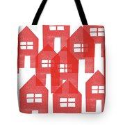 Red Houses- Art By Linda Woods Tote Bag