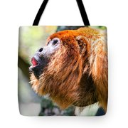 Red Howler Monkey Alpha Male Tote Bag