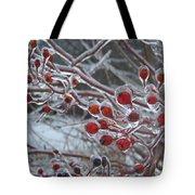 Red Ice Berries Tote Bag